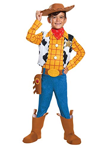 Disguise Disney Pixar Woody Toy Story 4 Deluxe Boys' Costume, Multi, Medium (7-8)