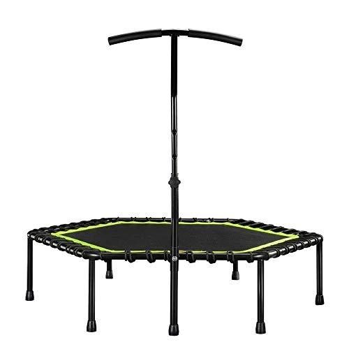 UIZSDIUZ Silencio Mini trampolín Mango con asa Regulable Cama de Salto Adulto Niño Aptitud Puenting Salto Aerobic 48'