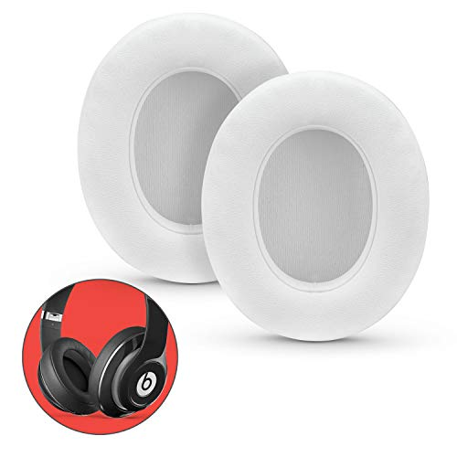 Premium Thick Earpads for Beats Studio 2, 3 Wired & Wireless Headphones (B0500, B0501), Soft & Comfortable Memory Foam, Fast Install, White by Brainwavz