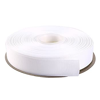 ITIsparkle 1  Inch Grosgrain Ribbon 50 Yards-Roll Set for Gift Wrapping Scrap Books Party Favor Hair Braids Hair Bow Baby Shower Decoration Floral Arrangement Craft Supplies White Ribbon