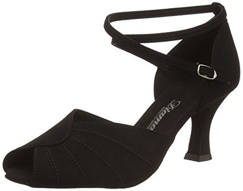 Diamant Diamant Damen Latein Tanzschuhe 027-060-040 - Zapatos de Baile - Standard & Latino para Mujer, Color Negro (Schwarz), Talla 34