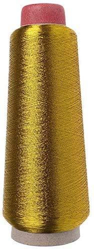 Hilo de coser (dorado) para máquina de bordar, bobina metálica de 5000 yardas 150D