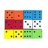 Koplow Games Inc. KOP17332 el 16Mm espuma Dados 12PK Surtido de colores planos