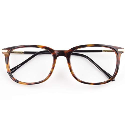 CGID CN79 Klassische Nerdbrille ellipse 40er 50er Jahre Pantobrille Vintage Look clear lens Tortoise