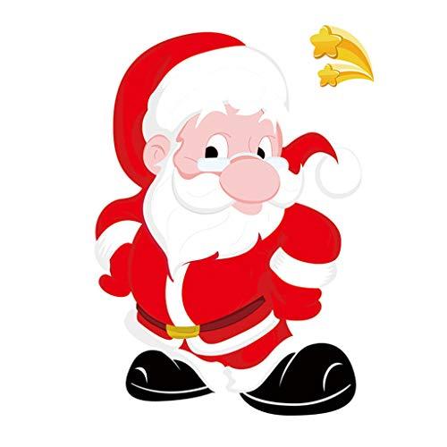 Higlles Weihnachten Statischer Aufkleber Glas Fenster Weihnachtsmann Elementdruck Weihnachtsschmuck Hauptdekoration