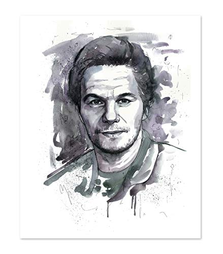 11x14 Mark Wahlberg Poster Art Print // Wall Decor Picture // Portrait Watercolor Painting