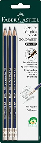 Faber Castell 116896 Lot de 3 Crayon Graphite GOLDFABER HB