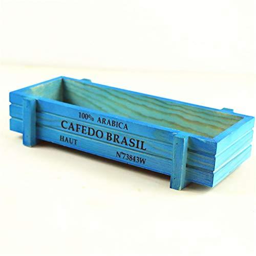 NA. RipengPI - Maceta rectangular de madera para jardín vintage