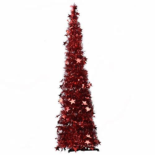 Árbol de Navidad emergente artificial, 1.22 m Árbol de Navidad plegable con fácil montaje para el hogar,...