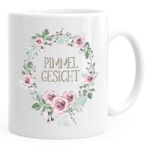 Kaffee-Tasse Schimpfwörter Beleidigung Ironie Geschenk-Tasse lustige Büro-Tasse MoonWorks® Pimmelgesicht weiß unisize