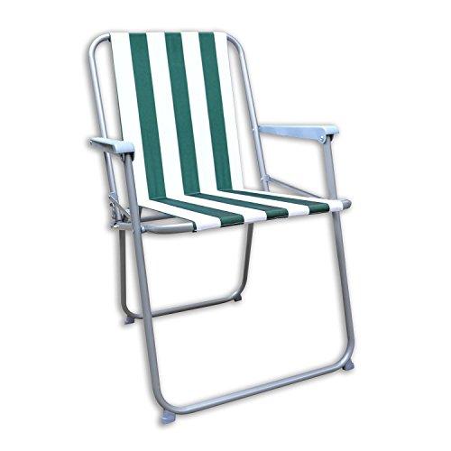 Generic Arty Chaise Deck Pique-Nique K Pique-Nique Campin Neuf Jardin terrasse Neuf Garde du Pont de Camping D de Plage Pliable à Rayures O Barbecue Pliable Chaise de fête