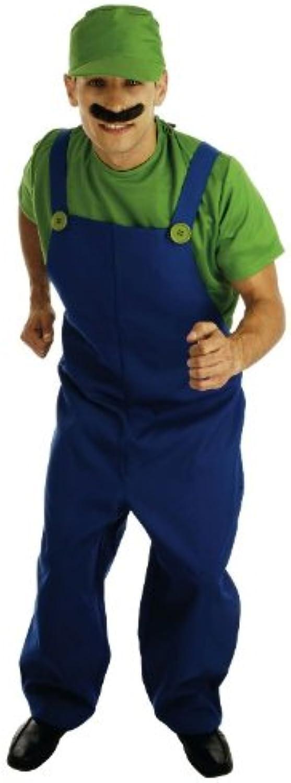 Klempner-Gehilfe - erwachsenes Abendkleid-Kostüm - Grün - S B005FXHKQO Hervorragende Eigenschaften   | Zahlreiche In Vielfalt