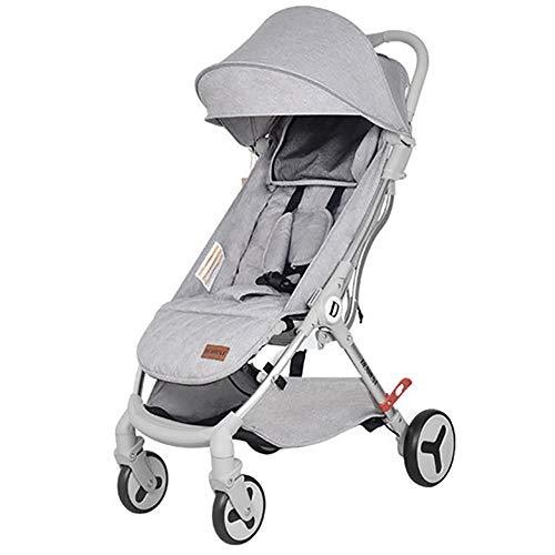 SHJMANST Seguridad Silla de Paseo para Bebe, Sistema de Arnés de 5 Puntos, Respaldo Reclinable, Plegable, Ligera y Practica (hasta 25 kg) Silla, Gray 🔥