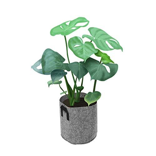 Zjcpow Macetero de 1 a 30 galones de tela de siembra para macetas transpirables, para plantas, macetas inteligentes para todas las plantas de la casa (tamaño libre; color: 2 quilates)