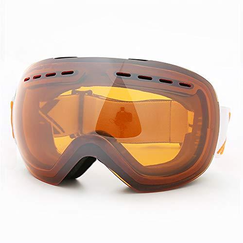 Dewanxin Skibrille, Ski Snowboard Brille Brillenträger Schneebrille Snowboardbrille Verspiegelt,Für Skibrillen Damen Herren,OTG UV-Schutz Anti Fog Verbesserte Belüftung für Skifahren, Snowboarden (F)