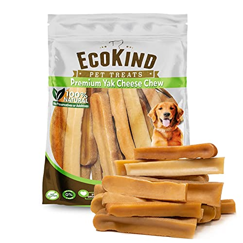 EcoKind Yak Cheese Dog Chews | 3 lb. Bag | Healthy Dog Treats, Odorless Dog Chews, Rawhide Free, Long Lasting Dog Bones for Aggressive Chewers, Indoors & Outdoor Use, Made in The Himalayans
