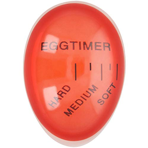 com-four® Eieruhr - Eierwecker - Farbwechsel Indikator - einfache Bedienung - für das perfekt gekochtes Ei