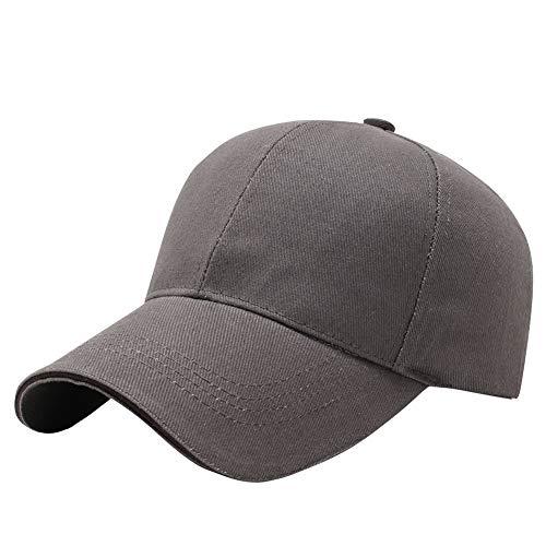 AIEOE Base Cap Baumwolle Kappe für Damen und Herren Klassische Sport Caps, Grau