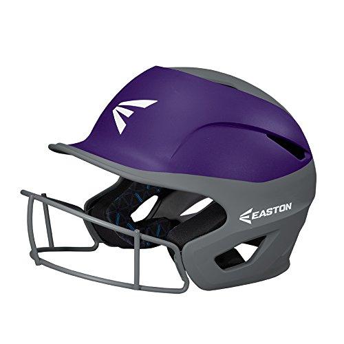 EASTON PROWESS Softball Batting Helmet W/ Mask, Small/Medium, Matte Purple/Charcoal