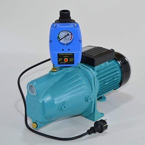 Tuinpomp JET 100A- 1100 watt debiet 3600 l/h 5 bar geïntegreerde thermische motorbeveiligingsschakelaar + pompregeling met droogloopbeveiliging.