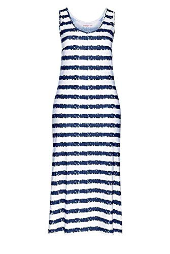 Sheego Kleid Maxikleid Blau - Weiß - Gr. 42