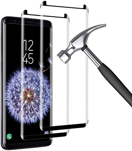 [2 Pack] Galaxy S9 Screen Protector,9H Hardness,3D Curved, Case Friendly,Bubble-Free, Scratch-Resistant for S9 Tempered Glass Film Screen Protector