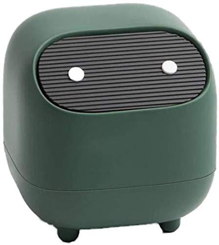 hwljxn Desktop-Mülleimer mit Push-Deckel-Mini-Tisch-Mülleimer Mülleimer Mülleimer, Back, Küchen, Home Büros, Schlafsäle