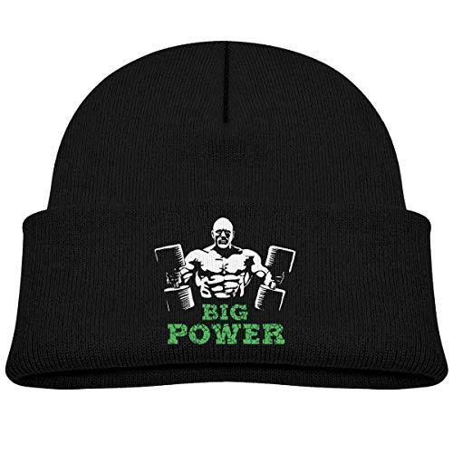 NR Big Power Man Gym Bonnet chaud en tricot pour bébé garçon fille