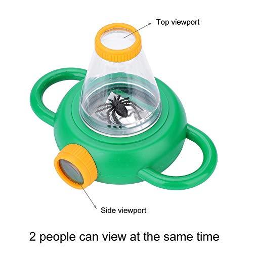 Bug Viewer Becherlupe, ABS Kunststoff Kleine Insektenlupe Bug Lupe mit 4X Vergrößerung Power und Griff für Kinder Kinder pädagogische