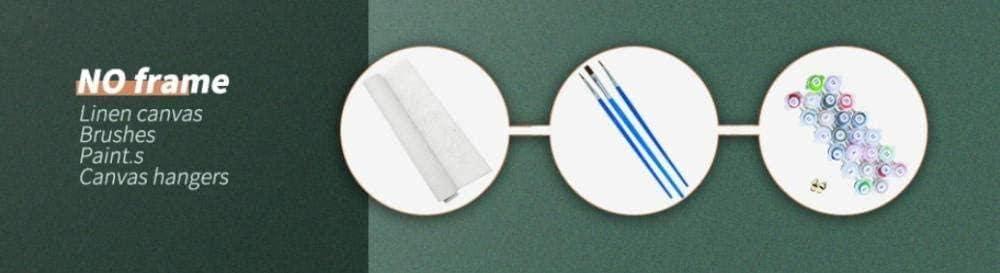 GEZHF Peinture par num/éros Fille Tenant Paon Bricolage num/éro kit de Peinture /à lhuile brosses et Peinture Acrylique par Toile pour Adultes Peinture d/ébutant pour 40x50 cm sans Cadre