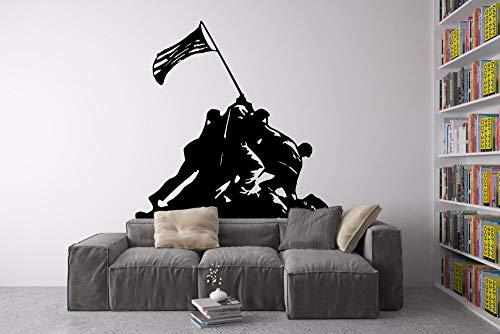 hetingyue Personengroep met stickers voor wand, vlag, silhouet, muurstickers, thuisdecoratie, kunst design, Heroe, Serie Oorlog, creatieve wanddecoratie