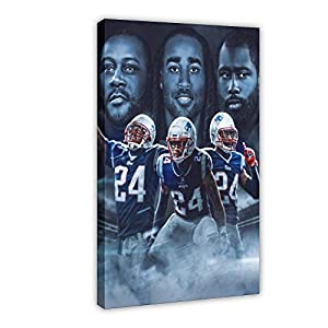 Football Player Sport Star Ty Law, Stephon Gilmore, Darrelle Revis Poster Canvas Poster Bedroom Decor Sports Landscape Office Room Decor Gift 20×30inch(50×75cm) Frame-style1