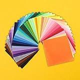 RosewineC 40 Stück Filzstoff, 40 Farben Bastelfilz Farbig Filz Blätter Polyester Felt Fabric für...