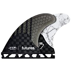 Thruster fin set (3-Fin) Recommended for Medium Size Surfers - 145lbs to 195lbs (65kg to 88kg) Futures Ride Number rating of 8.3 - Speed Generating For springy fluid and responsive surfing Area Specs - Side Fins and Center Fin: 14.54sq in