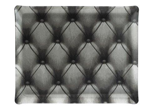 PLATEX 4037281050 Plateau en Acrylique Petit Modèle décor Capiton Gris