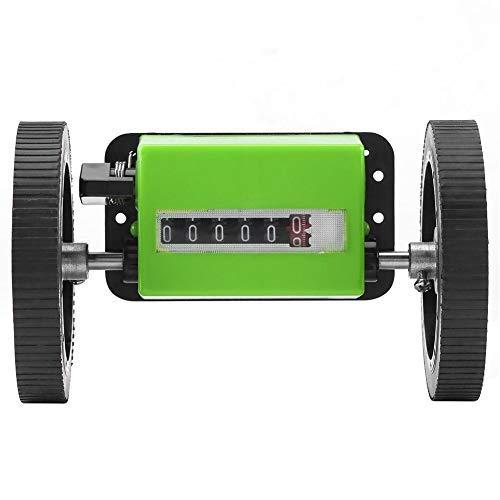 Mini Roller Type Längenzähler, 6 Digit Rollen Mechanischer Meter Counter zum Messen von Textilien, Drucken, Kunstleder, mit Zählerbereich: 0-99999.9 Meter