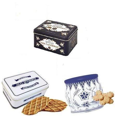 【ヨーロッパのお菓子】 欧州の3缶セット(デストルーパーミニレトロ缶75g、ドス・カフェテラス コーヒークリームキャラメル 330g、コペンハーゲンダニッシュミニクッキー 250g)