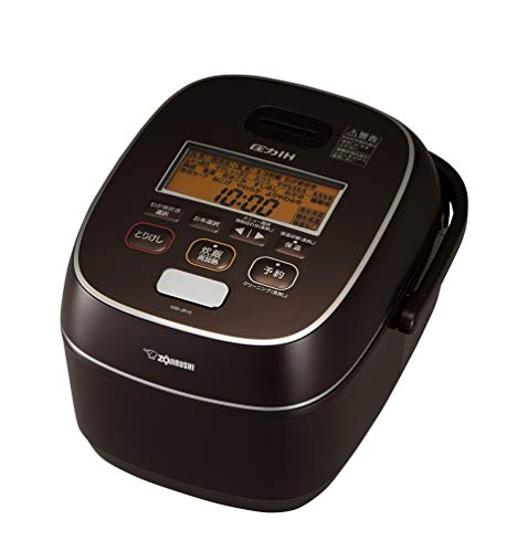 象印 炊飯器 圧力IH式 5.5合 極め炊き 鉄器コートプラチナ厚釜 ブラウン NW-JB10-TA