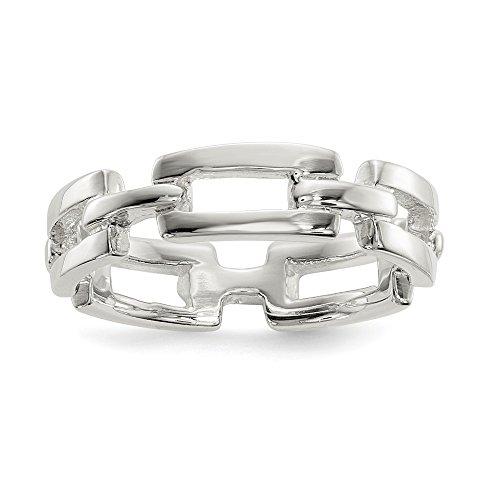 Diamond2deal Gliederring Sterling-Silber 925 poliert