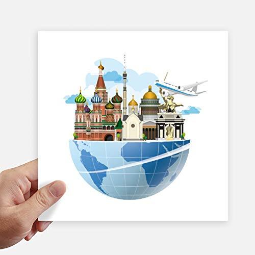 DIYthinker Rusland kathedraal van St Basil vliegtuig Square Stickers 20Cm muur koffer Laptop Motobike Decal 4 Stks