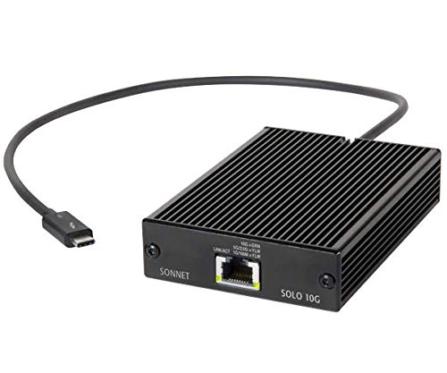 SoNNeT Technologies Adapter Solo 10 G Thunderbolt 3 Auf Ethernet 10 Gbase,Schwarz
