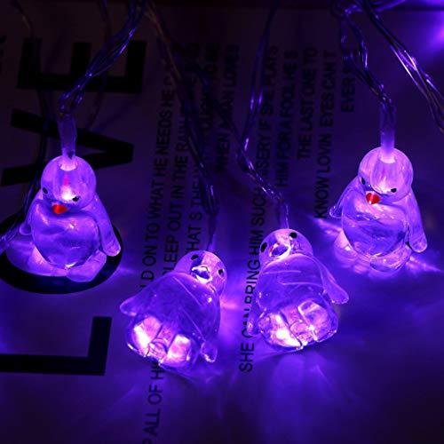 Deajing Cadena de Luce Luces Decorativas Luces Led 10 LED, Guirnalda de Luces LED, Pingüino Lindo Cortina de Luz de Cadena Luces de Cadena para Patio, Balcón, Casa