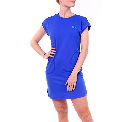 Sportkind Mädchen & Damen Tennis, Hockey, Loose Fit Kleid, atmungsaktiv, UV-Schutz UPF 50+, Kobaltblau, Gr. XXL