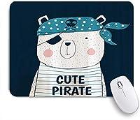 ZOMOY マウスパッド 個性的 おしゃれ 柔軟 かわいい ゴム製裏面 ゲーミングマウスパッド PC ノートパソコン オフィス用 デスクマット 滑り止め 耐久性が良い おもしろいパターン (かわいい海賊クマの赤ちゃん動物)