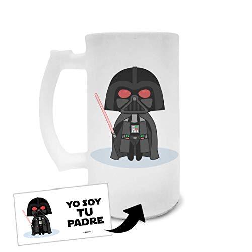 Jarra de Cerveza de Cristal Esmerilado Día del Padre Yo Soy Tu Padre Darth Vader