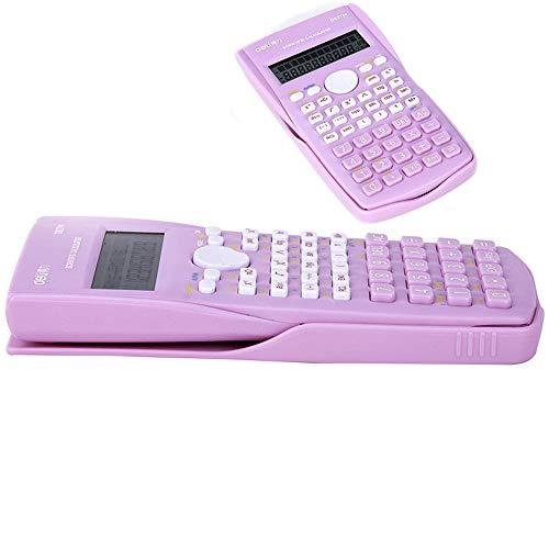 FJX Calculadora Multifunción Función de Calculadora Científica Se Aplica la Física Matemática Estudiantes Examen de Química Calculadora Científica/rosado