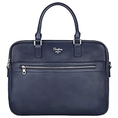 David Jones - Sac à Main Business Porte-Documents Homme Simili Cuir PU - Cartable Travail Sacoche Ordinateur Portable - Mallette Serviette Affaires Professionnel Bandoulière Porté Epaule