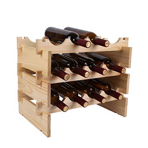 WWSHM Apilable De Madera Vertical De Pie De Mesa Vino Sostenedor del Soporte-Organizador De Almacenamiento for La Cocina Las Encimeras,Despensa,Nevera,Encimera Estante del Vino (Size : 3 Layers)