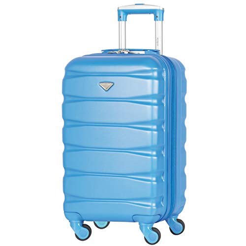 Flight Knight 55x35x25cm Lichtgewicht ABS met 4 koffers, koffer Handbagage Handbagage Goedgekeurd ryanair, easyjet, KLM