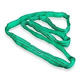 Holzinger Imbracatura imbragatura cinghia nastro fascia braga braca da per sollevamento di carichi rotonda HRS2T/3M - 2 t 2000 kg - in poliestere flessibile durevole resistente ai raggi UV - codificata a colori